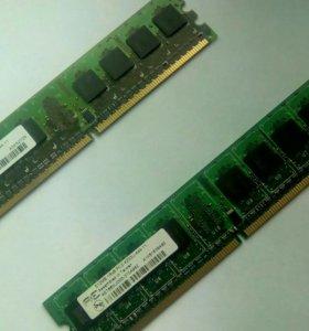 ОП DDR 2 2x 512 mb