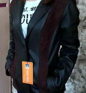 Кожаная куртка. Новая.