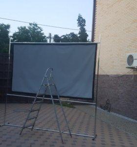 Экран для проектора 152 см. на 264 см (130 дюймов)