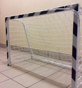 Сетка и металические ворота футбольные2 шт