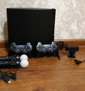 Ps 3 slim, 2 Ps move и Ps камера, игры.
