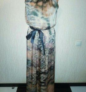 Новое шикарное шелковое платье.44-46