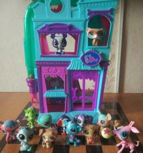 """""""Зоомагазин"""" Littlest Pet Shop + 14 игрушек"""