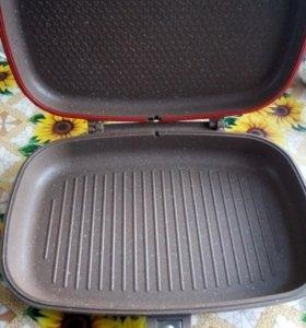 Сковорода-гриль, двухсторонняя