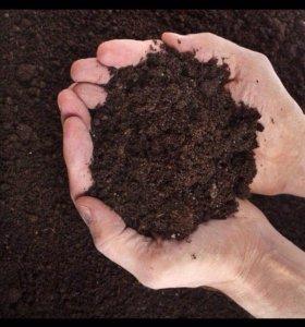 Торф, чернозём ,  навоз, щебень, отсев, песок