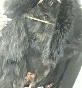 Мужская зимняя кожаная куртка мех натуральный