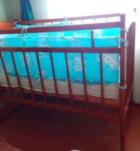 Кроватка, матрац, борт