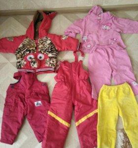 Вещи и обувь на девочку пакетом от 8 месяцев