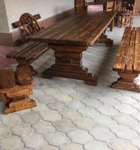 Состаренная мебель из дерева ручной работы