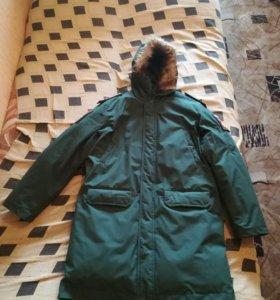 Куртка зимняя повседневная (офисная) зеленая