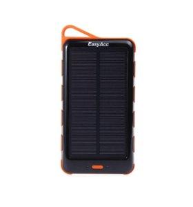 Внешний аккум. EasyAcc 15000mAh (Solar Power Bank)