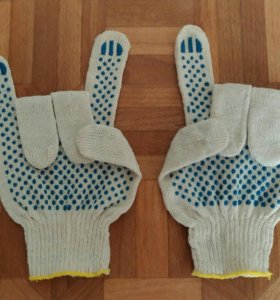 Перчатки х/б с пвх.