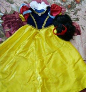 Платье Новогоднее,《Белоснежка》5-6лет