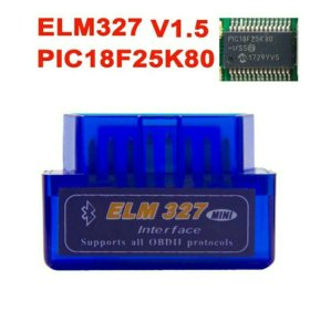 ELM-327 Bluetooth v.1.5 pic18F25K80 новый.