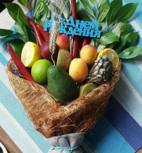 Букеты из фруктов цветов на заказ