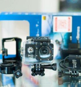 Экшн-камера 1080p Полный комплект