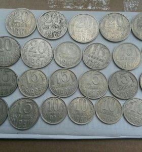 Монеты СССР,погодовка.