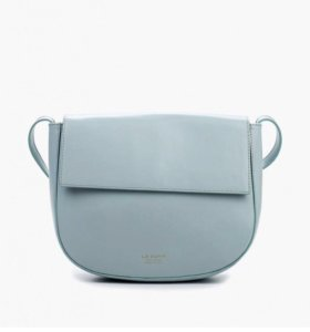 Голубая сумка Le camp, натуральная кожа
