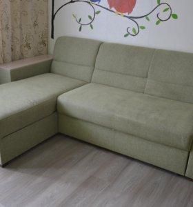 Угловой диван, заменяемые стор, бу, скидка 75 проц