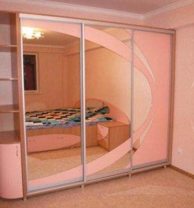 Шкаф-купе Линейный для Спальной Комнаты