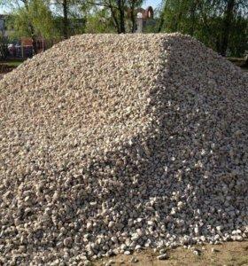 Вода, щебень, песок, отсев, грунт, керамзит