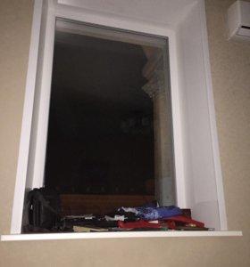 Пластиковое окно, глухое 115 на 177, трехкамерное