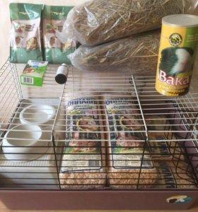 Клетка для кролика и морской свинки