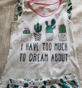 Пижама детская рост на 8-10 л р.152