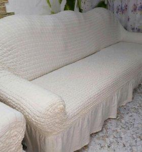Мягкий уголок (диван и кресло)