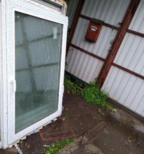 Пластиковые окна шир 97/выс 1.43 и шир 87/выс1.41