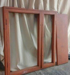 Новый оконный блок с балконной дверью