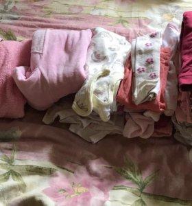 Пакет одежды на девочку 68 размер