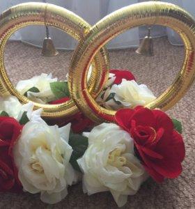 Кольца на машину свадебные