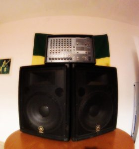 Колонки с микшером Yamaha BR15 + Yamaha EMX 512SC