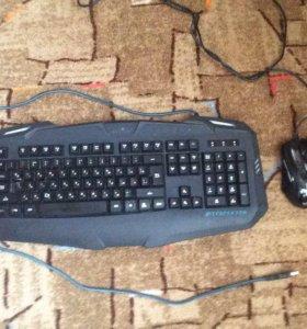 Игровая клавиатура , мышка и наушники