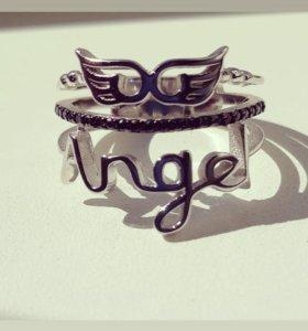 Кольцо Ангел из серебра