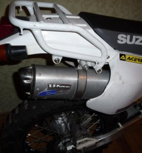 Глушитель - прямоток на Suzuki Djebel 250