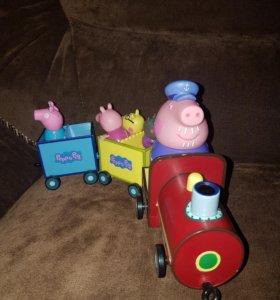 Паровозик свинки Пеппы