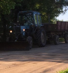 Трактор мтз-82 + Телега