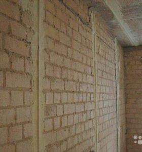 Штукатурка стен, ОТКОСЫ,стяжка,шпаклевка.