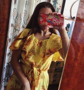 Платье(красивый,яркий,солнечный цвет)