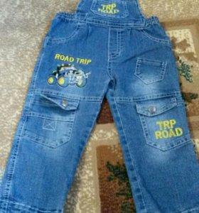 джинсовый комбезик