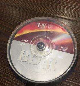 Blu-ray 25GB диски чистые