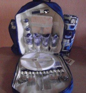 Рюкзак + набор туристической посудой на 4 персоны