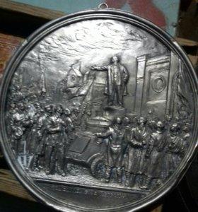 """Плакетка""""Приезд В.И.Ленина в Петроград"""""""
