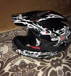 Спортивный кроссовый шлем для Пит-Байка