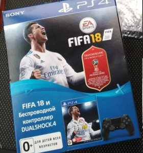 геймпад Dualshock 4 v2 Black + FIFA18 ps4