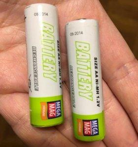 Аккумуляторные батарейки рабочие 2шт за 200