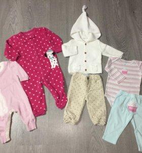 Вещи для девочки 6-12 месяцев