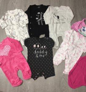 Вещи на девочку 3-6 месяцев